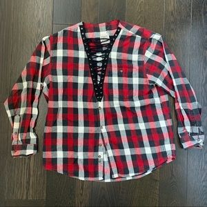 LF Lace Up Flannel